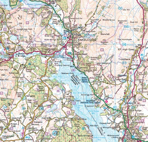 lake district map os Lake District National Park Wall Map lake district map os